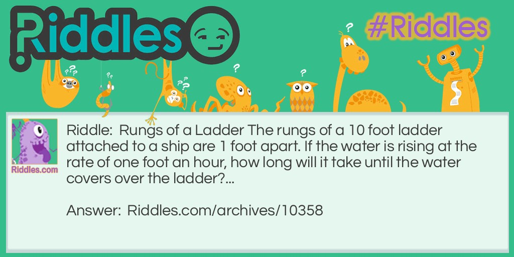 A Ships Ladder Riddle Meme.