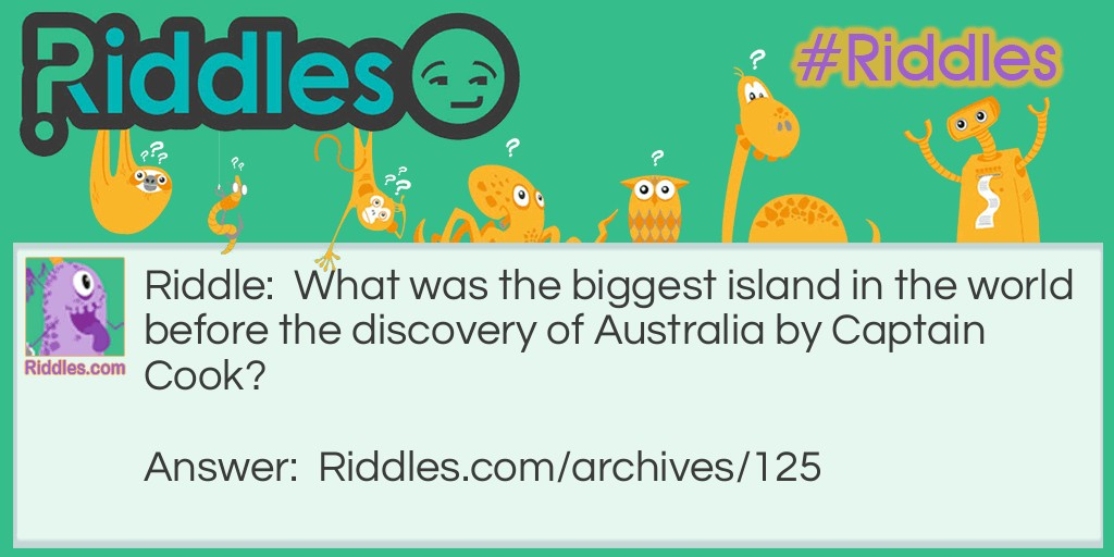Largest Island Riddle Meme.