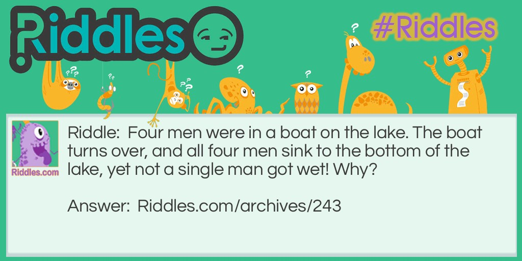 Single Man Riddle Meme.