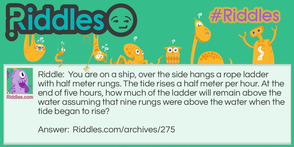 Rungs on the Ship Riddle Meme.
