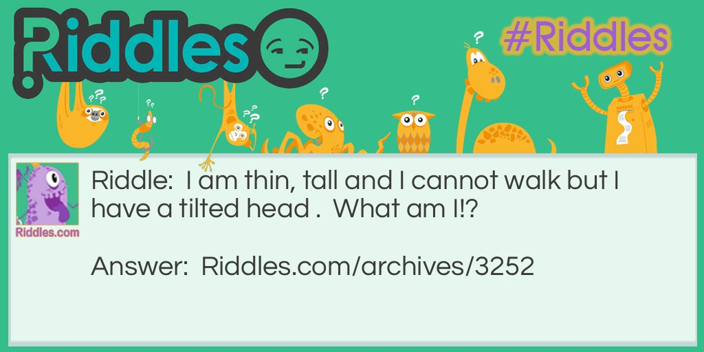 Thin and Tall Riddle Meme.