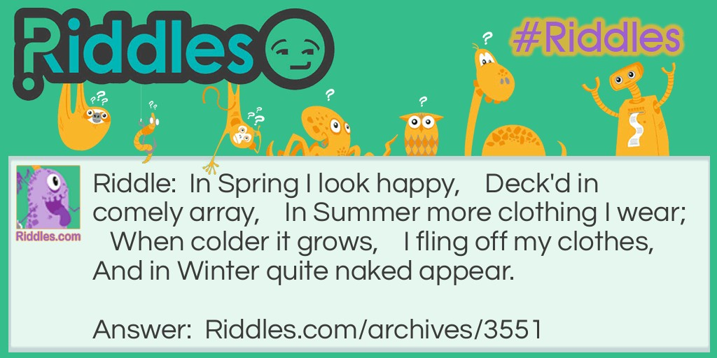 Spring and Summer Riddle Meme.