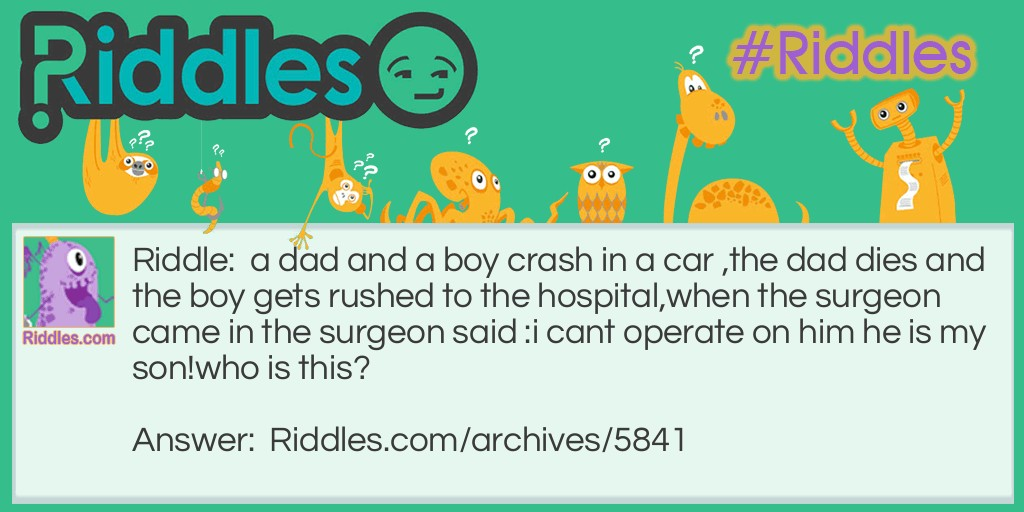 the car crash Riddle Meme.