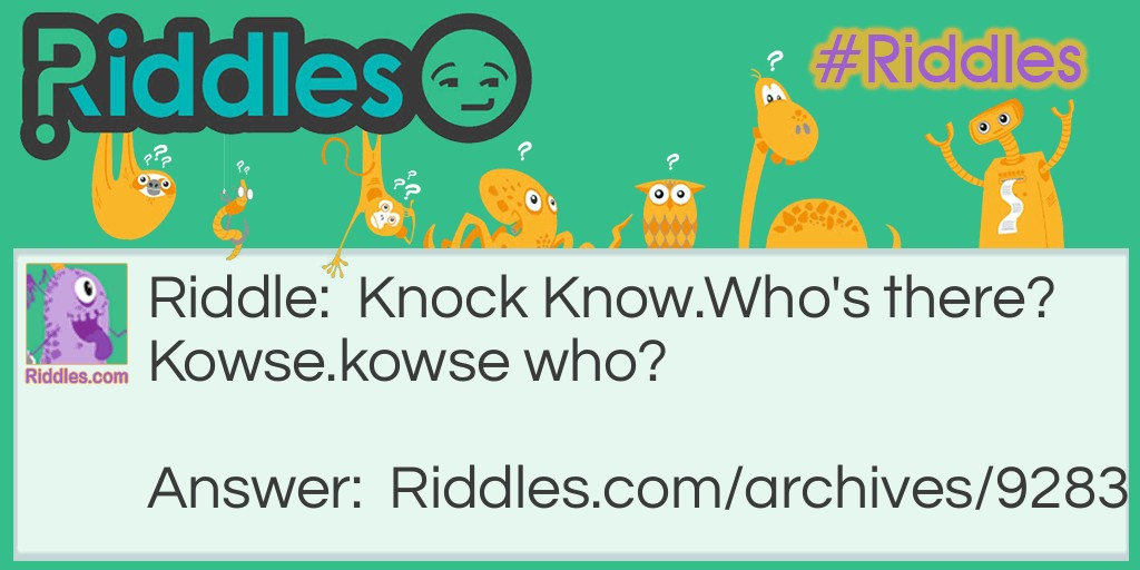 Knock Knock Jokes Riddles Com