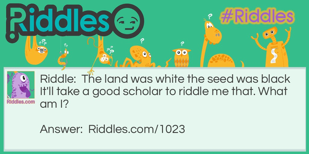 black and white riddle Riddle Meme.