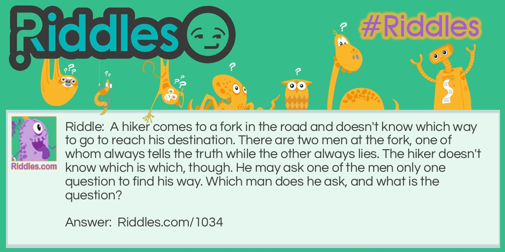 Fork In the Road Riddle Riddle Meme.