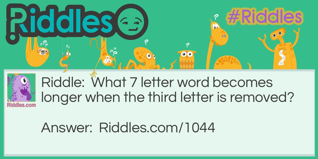 What 7 letter word Riddle Meme.