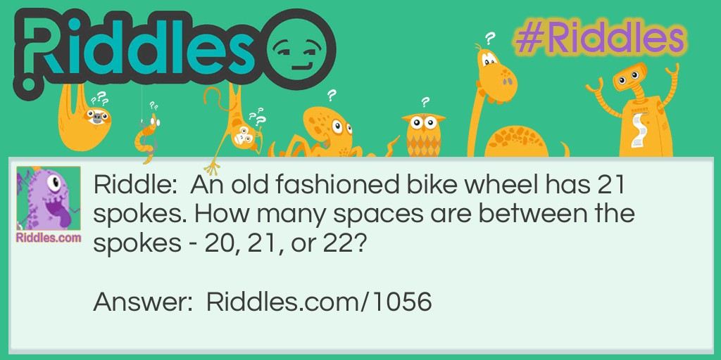 Bike Spokes Riddle Meme.