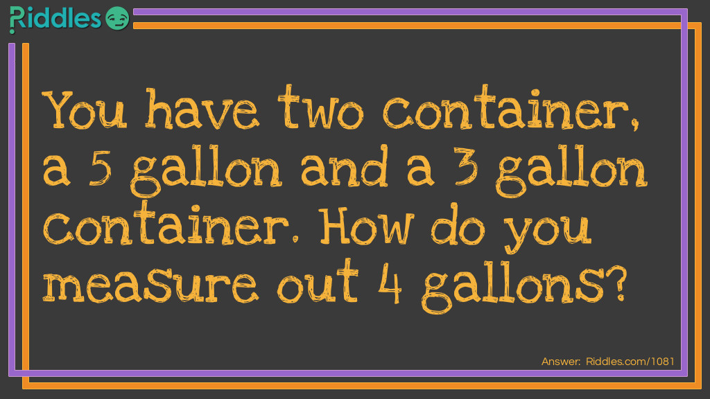 Gallons of Water Riddle Meme.