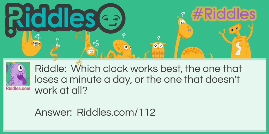 Lose a Minute Riddle Meme.