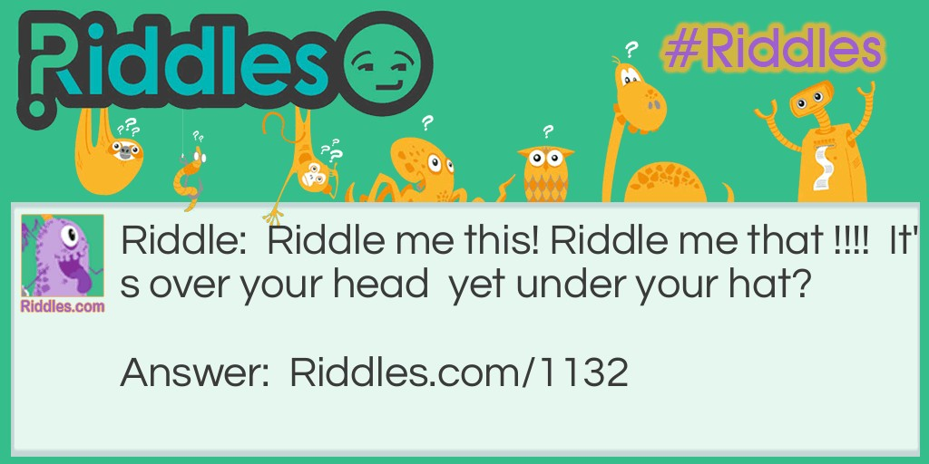 The Hat Riddle Riddle Meme.