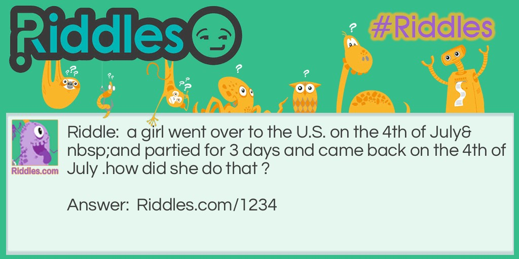 4th of July Riddle Meme.