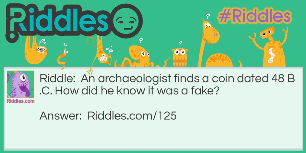 Old Coin Riddle Meme.