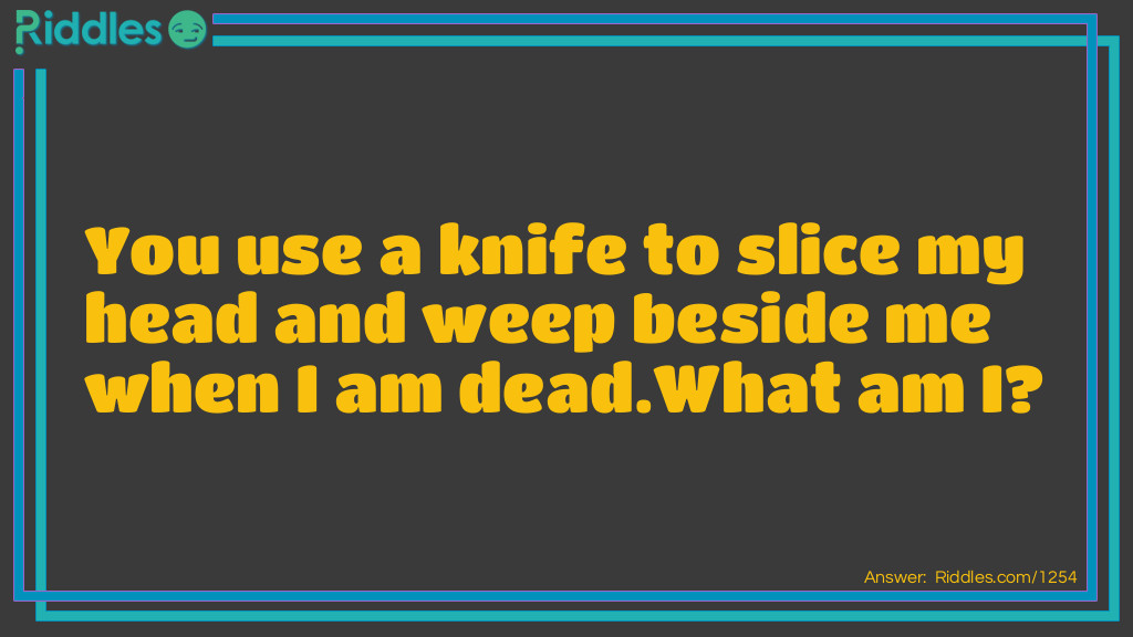 The knife Riddle Meme.