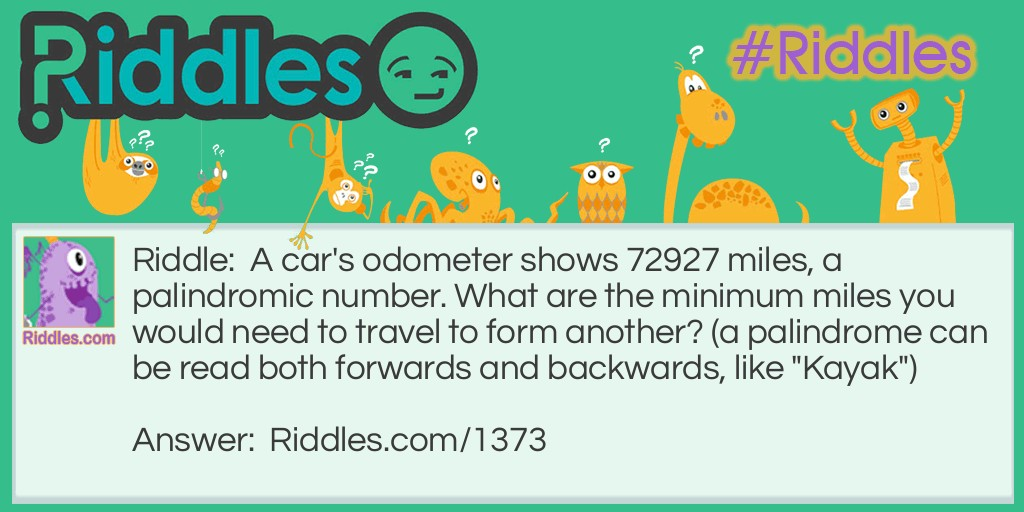 The cars odometer Riddle Meme.