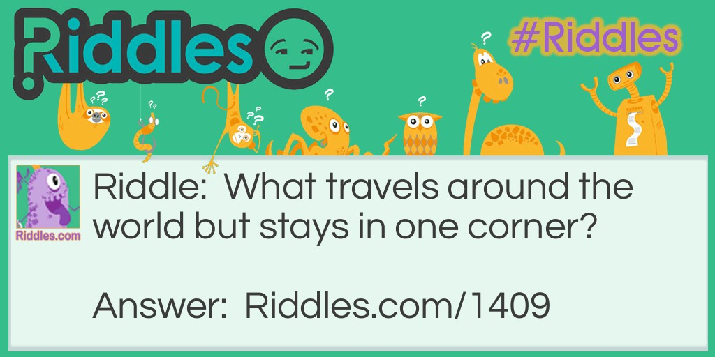 What travels? Riddle Meme.