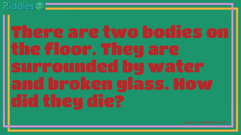 Two Dead Bodies Riddle Meme.
