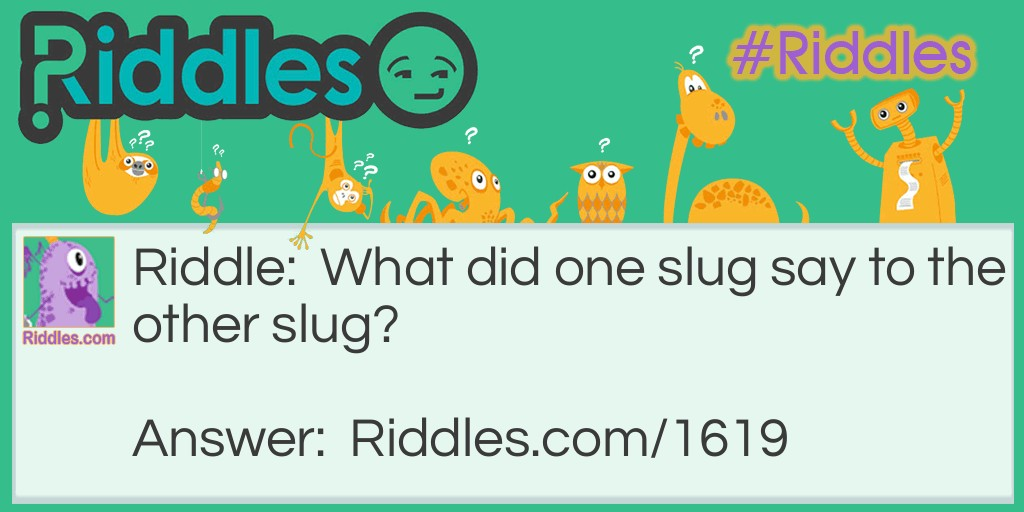 Slug to slug Riddle Meme.