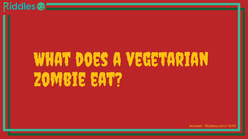 Zombies eat Riddle Meme.