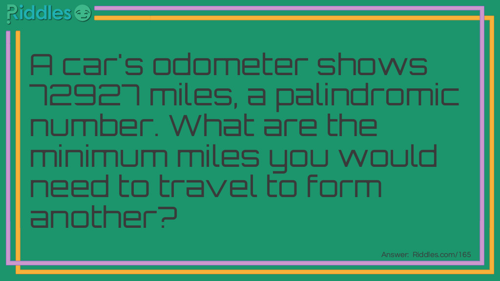A Palindromic Number Brain Teaser Riddle Meme.