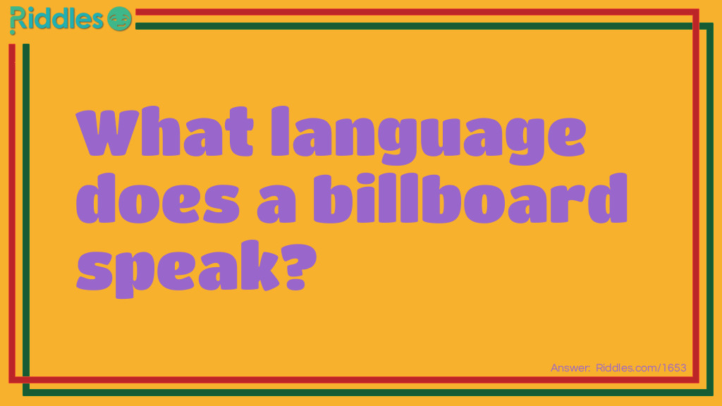 Billboard Riddle Meme.