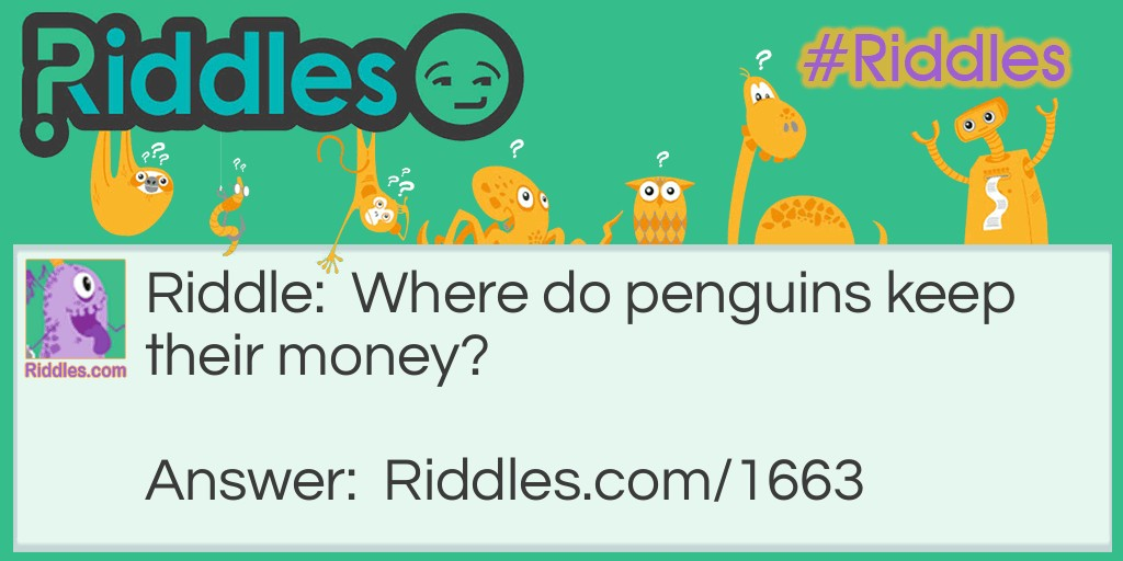 Penguin Savings Riddle Meme.