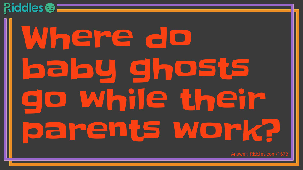 Baby Ghost Sitter Riddle Meme.