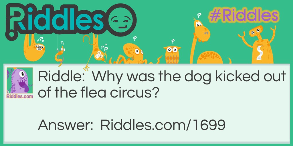 Flea Circus Thief Riddle Meme.