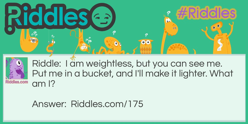 Weightless Riddle Meme.