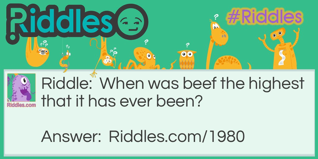 High Beef Riddle Meme.