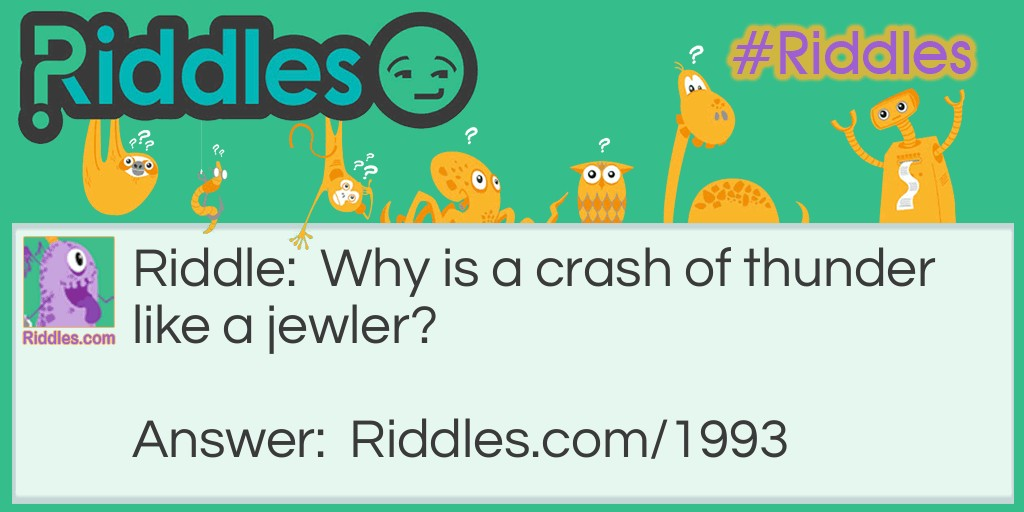 Thunder And Jeweler Riddle Meme.