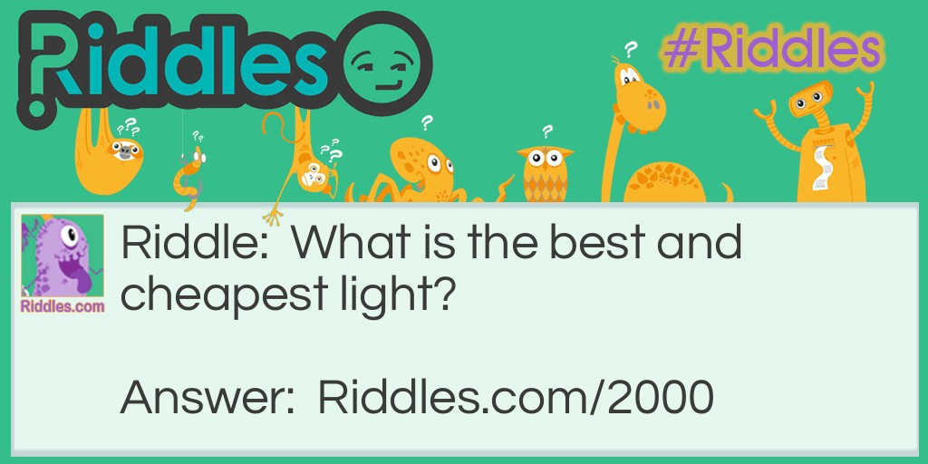 Best Light  Riddle Meme.