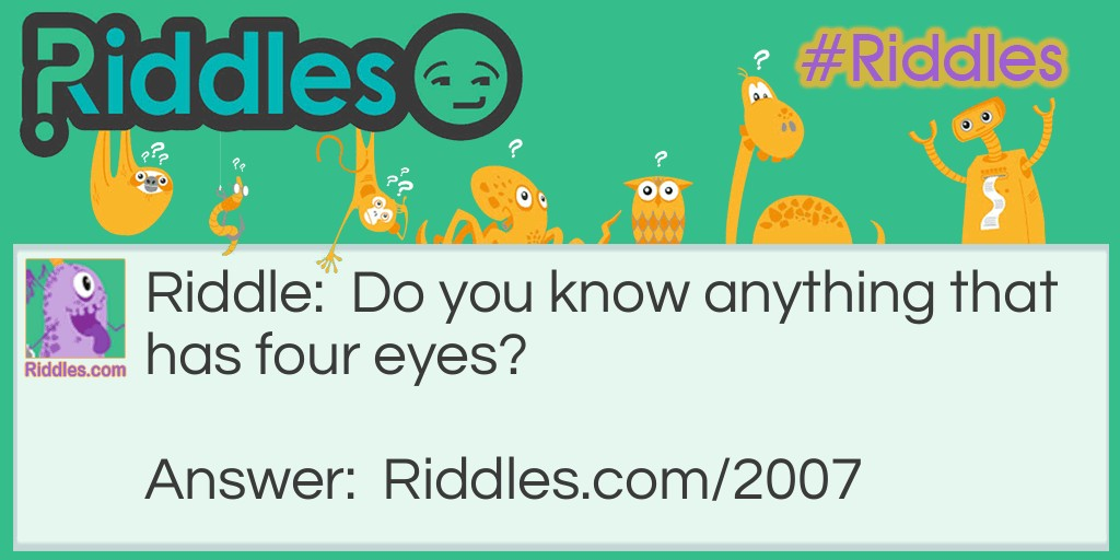 Four Eyes Riddle Meme.