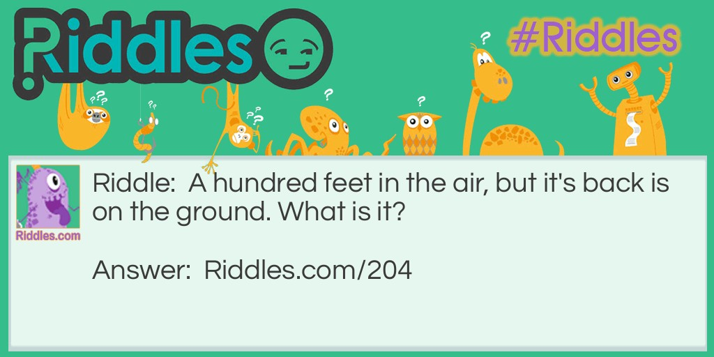 A Hundred Feet Riddle Meme.