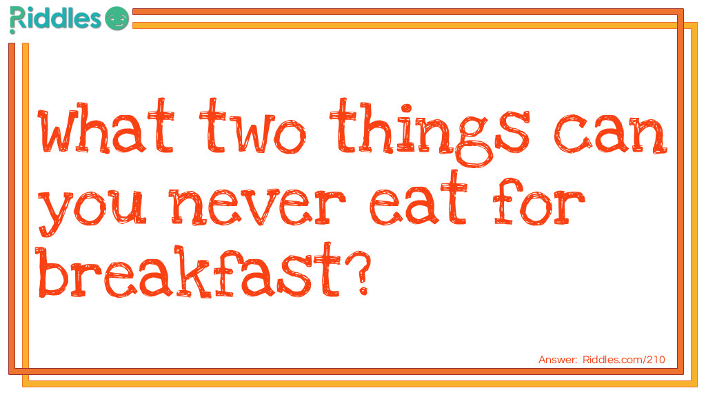 No Breakfast Riddle Meme.