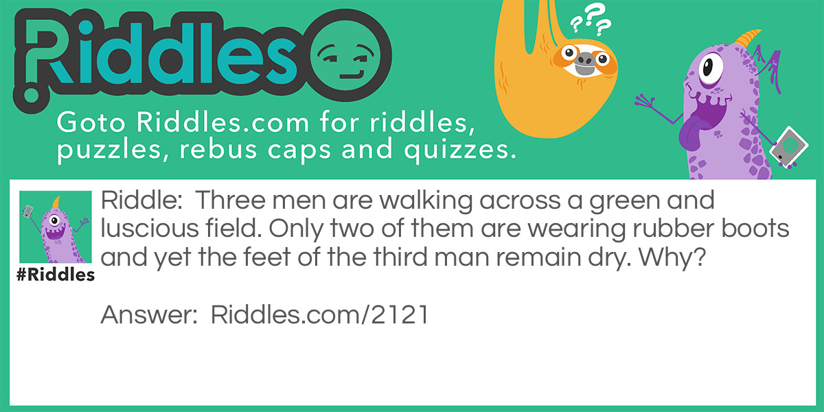 Three Men Riddle Meme.