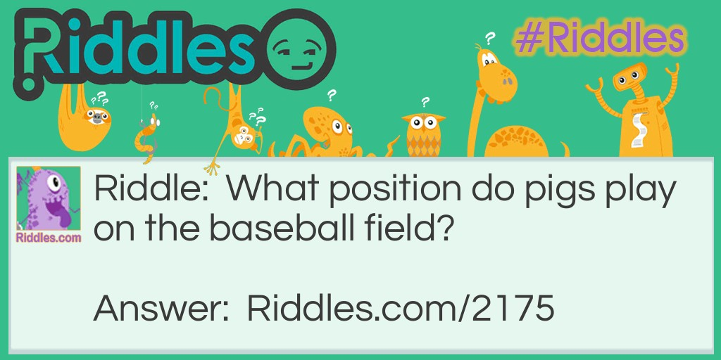 Baseball Pigs Riddle Meme.