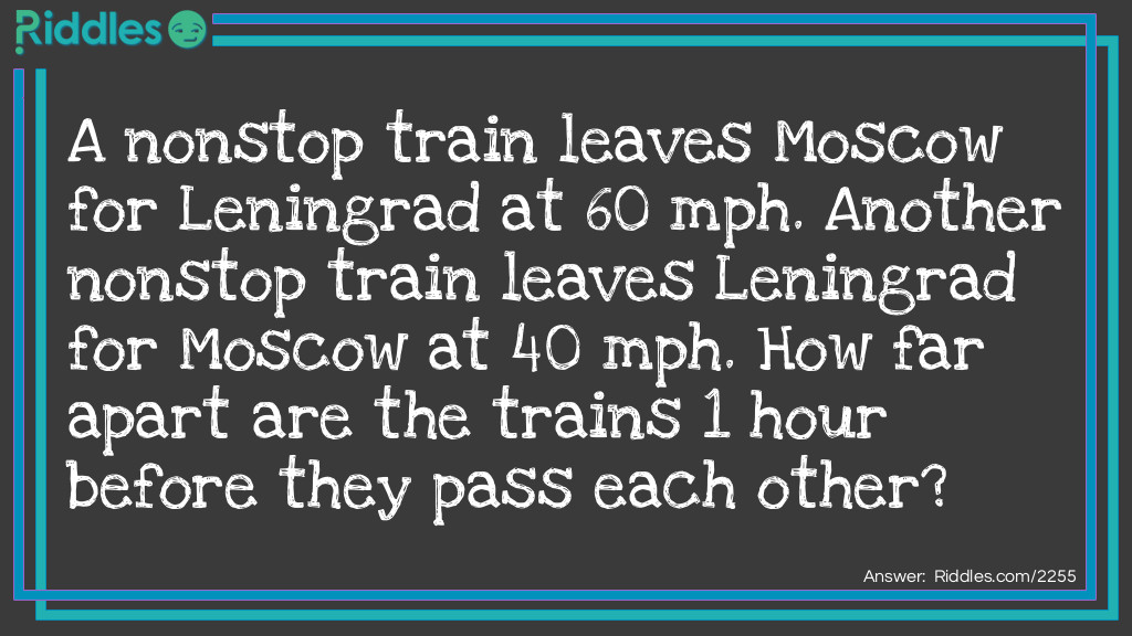 Two Trains Riddle Meme.