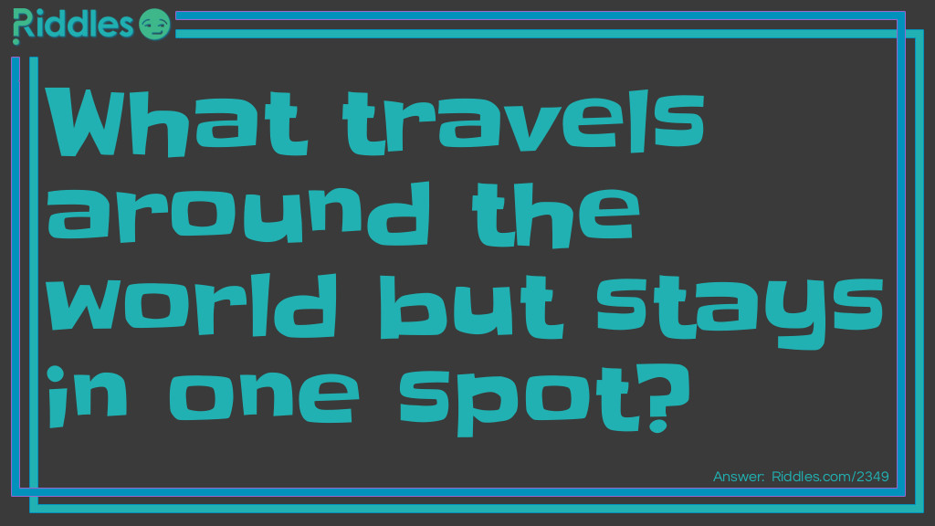 Click to see riddle Around the world answer.