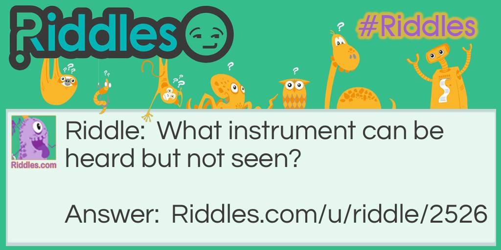 What's the instrument   Riddle Meme.