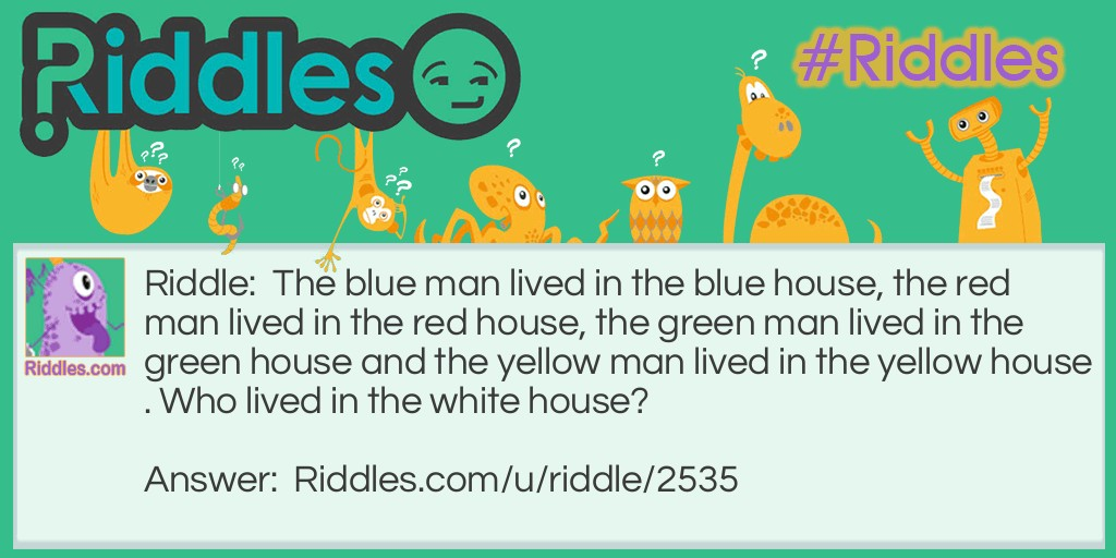 Colored Houses Riddle Meme.
