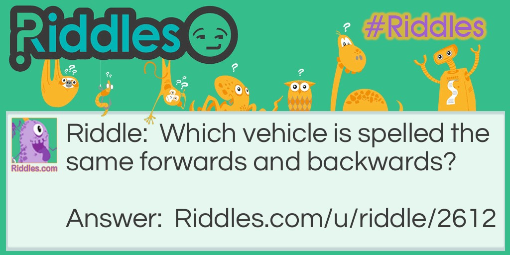 Vehicles Riddle Meme.