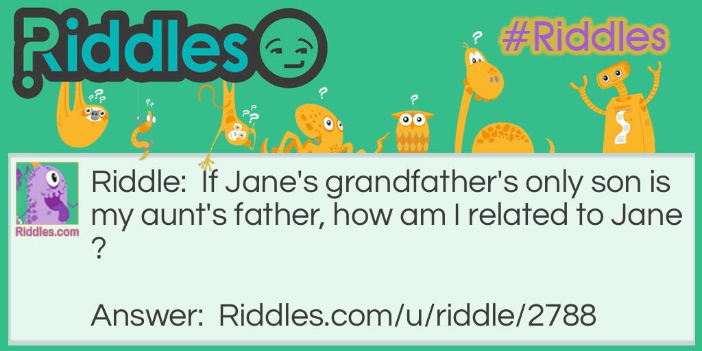 How am I related? Riddle Meme.