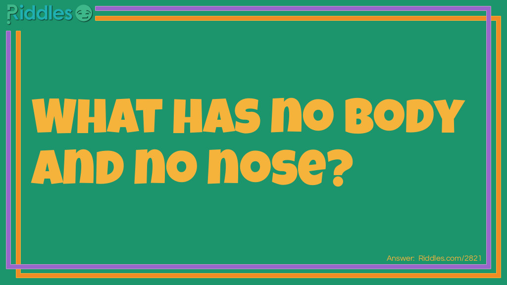 No Body No Nose Riddle Riddle Meme.