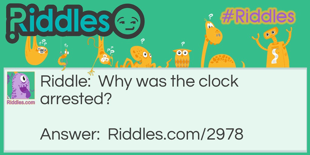 Arrested clock Riddle Meme.