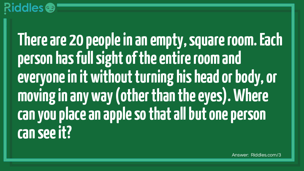 Invisible Apple Riddle Meme.