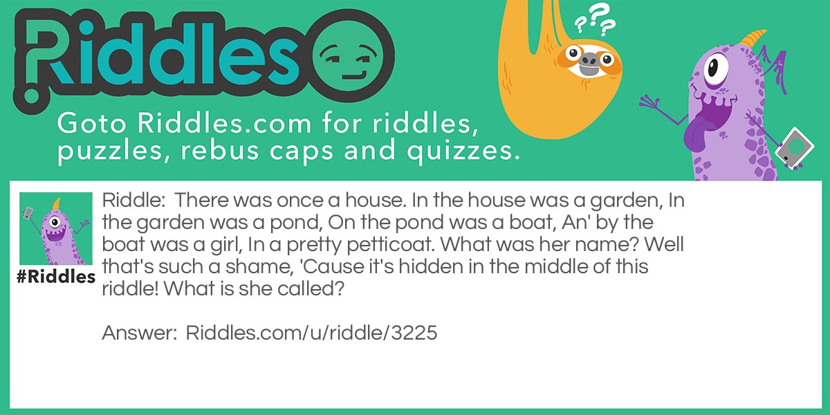 House Song Riddle Meme.