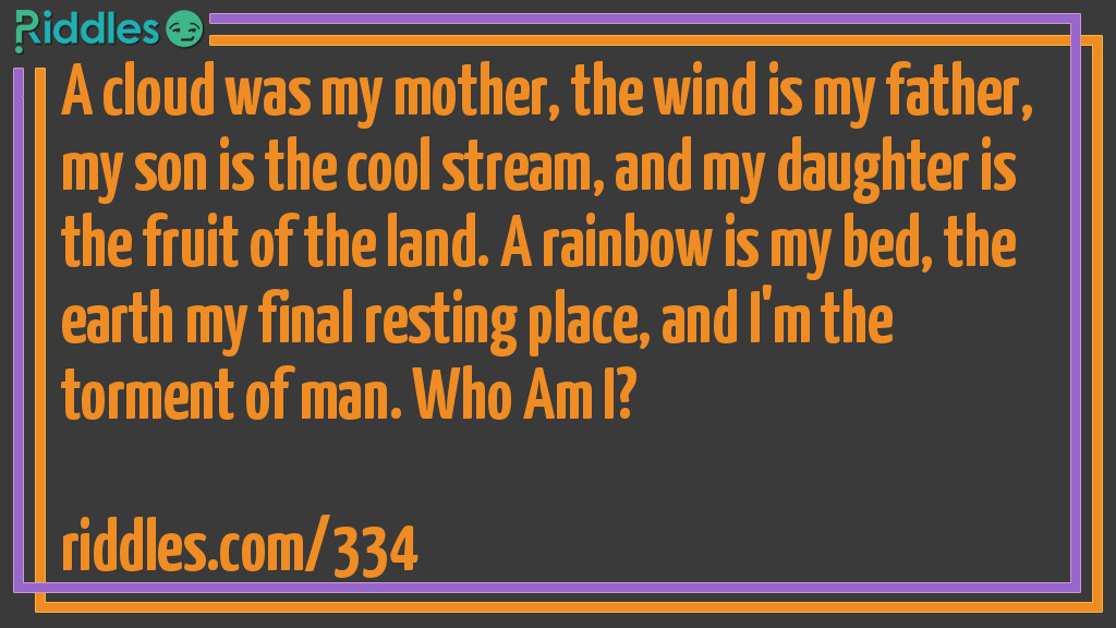 Natural Family Riddle Meme.