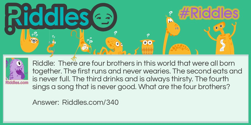 Earth Day Riddle: Four Siblings Riddle Meme.