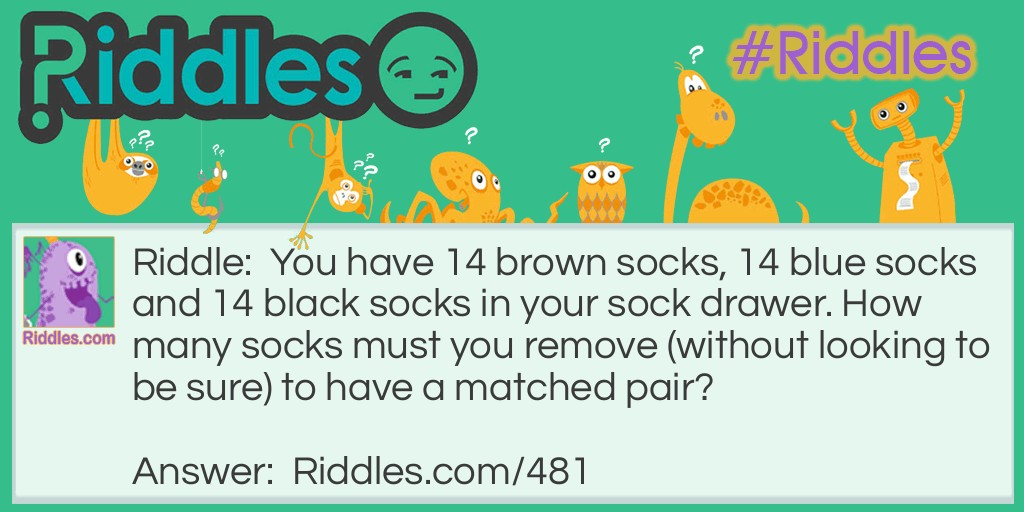 Darn Socks Riddle Meme.